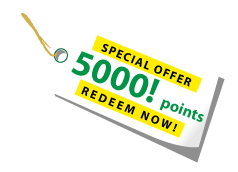 Redeem 5000 points